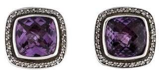 David Yurman Amethyst & Diamond Albion Earrings