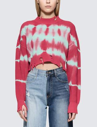 MSGM Stripes Bleach Ribbed Knit