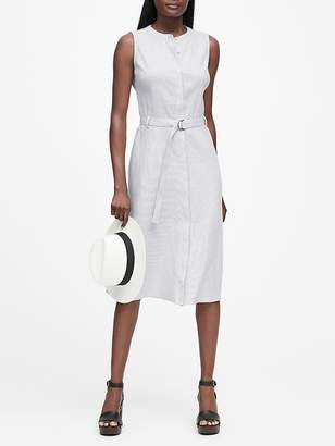 Banana Republic Stripe Linen-Cotton Shirt Dress