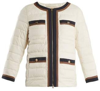 Herno High Neck Quilted Jacket - Womens - White Multi