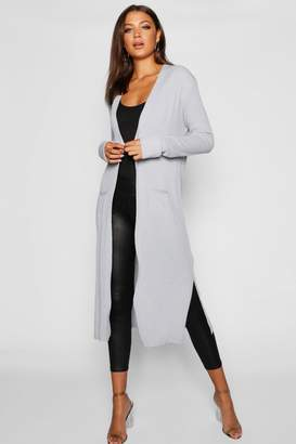 boohoo Tall Side Split Maxi Cardigan