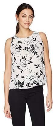 Nine West Women's S/L Floral Print Blouse