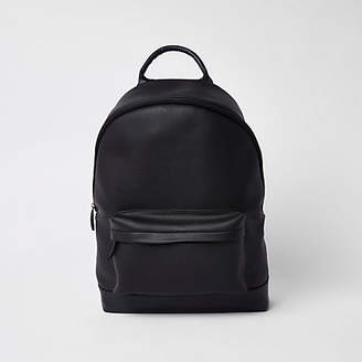River Island Black faux leather backpack