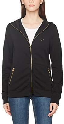 True Religion Women's Hooded Zip JKT All Metal Skinny Jeans, (Black 16), (Size:Medium)