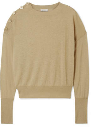 Eres Groom Button-detailed Cashmere Sweater - Sand