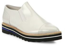 Vince Alona Patent Leather Point-Toe Creeper Loafers $295 thestylecure.com