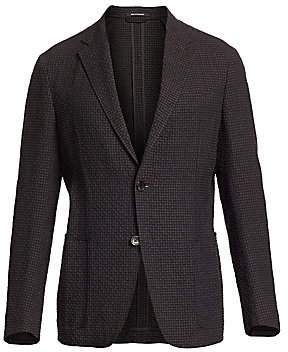 Ermenegildo Zegna Men's Single-Breasted Seersucker Jacket