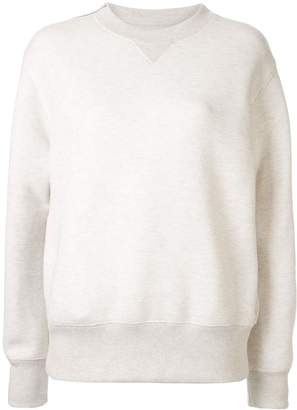 Sacai zipped shoulder sweater
