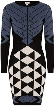 Temperley London Amedee Knit Fitted Dress