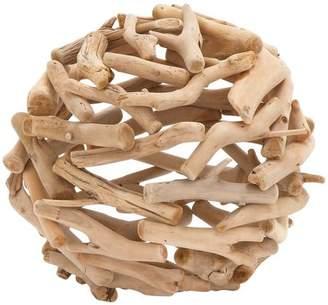 DecMode Decmode Driftwood Decor Ball, Tan