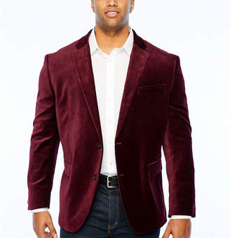 Jf J.Ferrar Velvet Stretch Classic Fit Sport Coat - Big and Tall