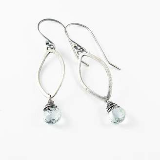 Marquis Camali Design Gem And Silver Earrings