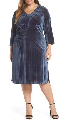 Chelsea28 Stripe Velvet Dress