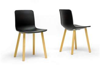 Wholesale Interiors Lyle Plastic Modern Dining Chair, Set of 2, Black