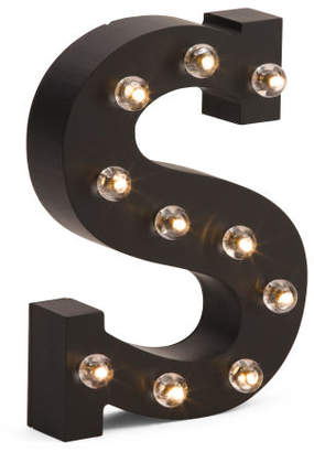 8in Led Wood Marquee Letter