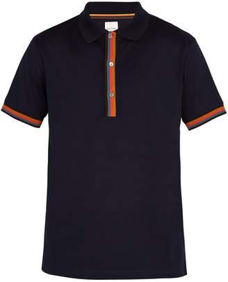 Paul Smith Striped-placket cotton-piqué polo shirt