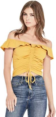 Factory Guess Women's Selma Ruched Crop Top