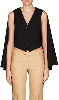 Chloé WOMEN'S STRETCH-VIRGIN WOOL SUITING TWILL CAPELET VEST