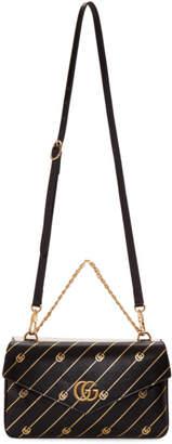 Gucci Black and Off-White Thiara Double Bag