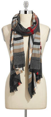 Lord & Taylor Classic Plaid Lurex Scarf