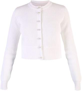 Givenchy White Cropped Cardigan