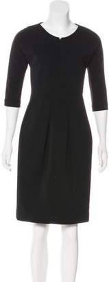 Zero Maria Cornejo Knee-Length Zip-Up Dress