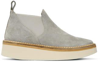 Flamingos SSENSE Exclusive Grey Suede Alambra Platform Boots