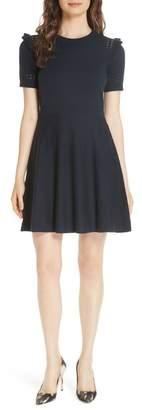 Kate Spade Ruffle Knit A-Line Sweater Dress