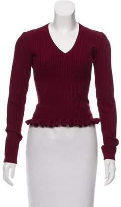 Alaia Ribbed Wool Top