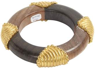 Dominique Aurientis Brown Wood Bracelet