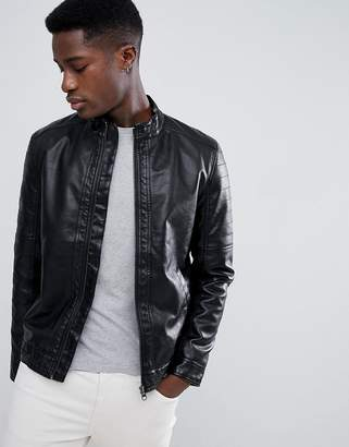 Esprit Faux Leather Biker Jacket