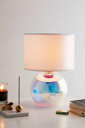 Iridescent Globe Table Lamp