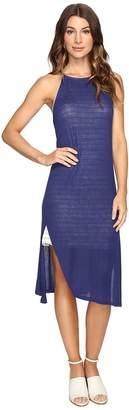 Brigitte Bailey Alette Halter Midi w/ Stripe Detail Women's Dress