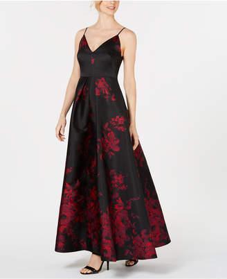 Calvin Klein Floral Sleeveless Gown
