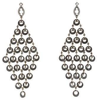 Pre Owned At Therealreal Loree Rodkin 18k Multi Circle Diamond Chandelier Earrings