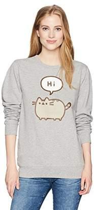 Pusheen Junior's Hi Bye Front and Back Pull on Sweatshirt, Medium