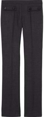 Giambattista Valli Button-Detailed Virgin Wool Straight-Leg Pants