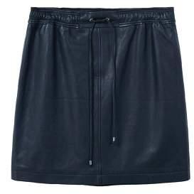 Violeta BY MANGO Leather miniskirt