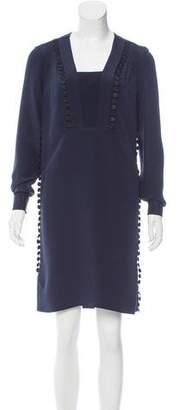 Derek Lam Silk Guipure Lace-Trimmed Dress w/ Tags