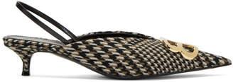 Balenciaga Brown Slingback Heels