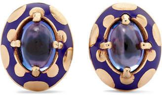 Alice Cicolini - Candy 14-karat Gold And Enamel Tanzanite Earrings