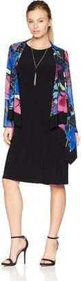 Tiana B Women's Petite Floral Print Jacket Dress