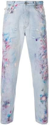 Just Cavalli paint effect jeans