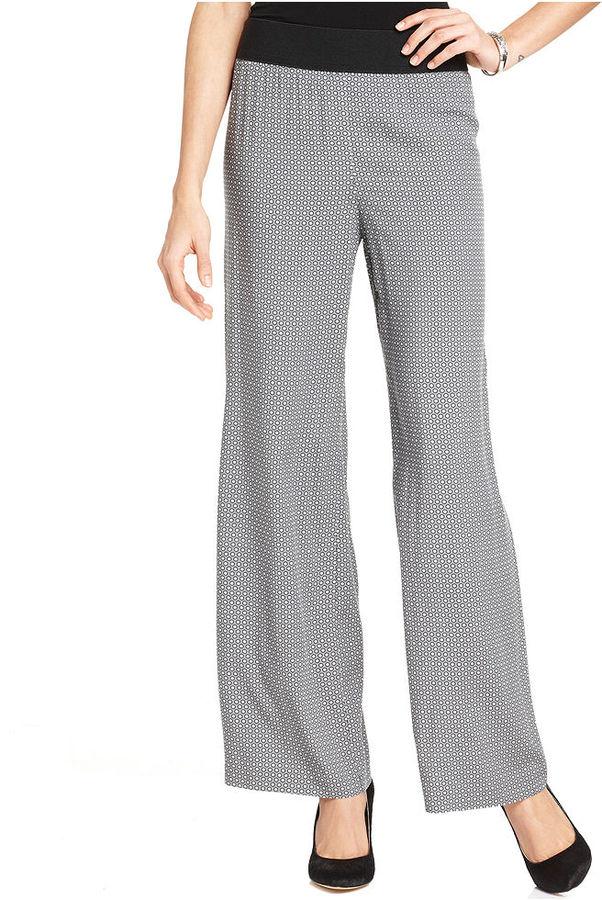 Alfani Pants, Wide-Leg Dot-Print