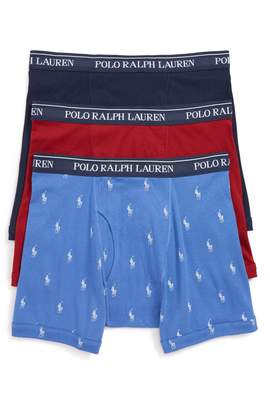 Polo Ralph Lauren 3-Pack Classic Fit Cotton Boxer Briefs