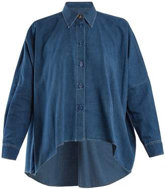 MM6 MAISON MARGIELA Handkerchief-hem cotton-denim shirt