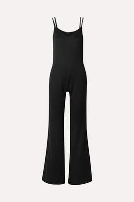 TWENTY Montréal - Olympic Cotton-blend Mesh Jumpsuit - Black