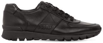Prada Match Race Leather Running Sneakers
