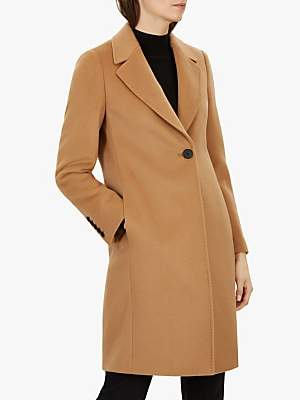 Jaeger Classic Wool Boyfriend Coat, Tan