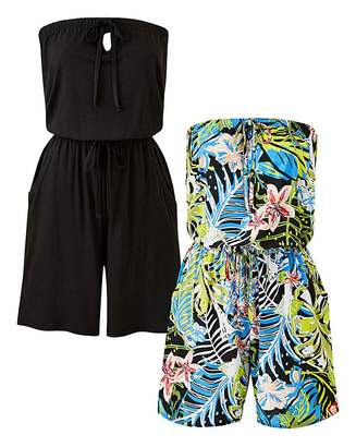 Capsule Pack of 2 Tropical Playsuits